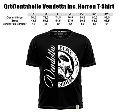 Vendetta Inc. Size Card