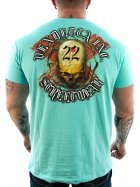 Vendetta Inc. Shirt Blood 22 1050 turquiose 4XL