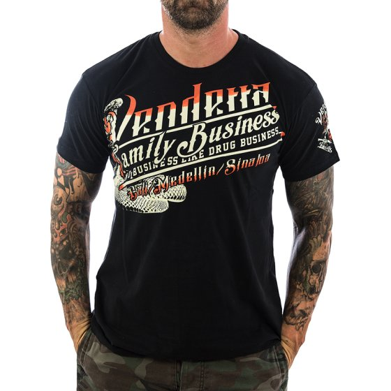 Vendetta Inc. Shirt Family Business 1070 schwarz M