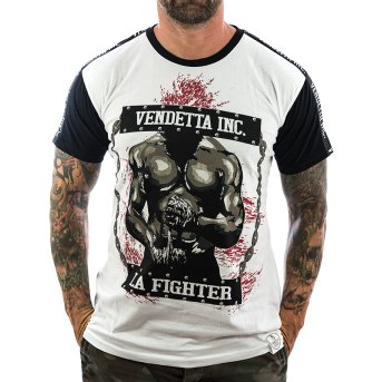 Vendetta Inc. Shirt La Fighter 1075 weiß-schwarz S