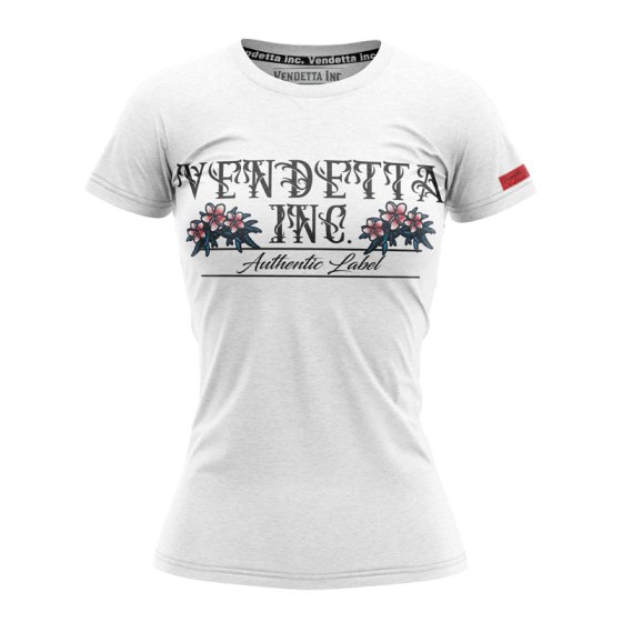 Vendetta Inc. Shirt Flower 0002 weiß