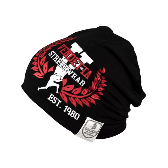 Vendetta Inc. Slouch Beanie Logo Patch black