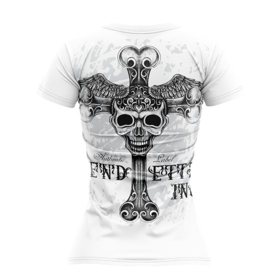 Vendetta Inc. Shirt Free Skull VD-0003 weiss S