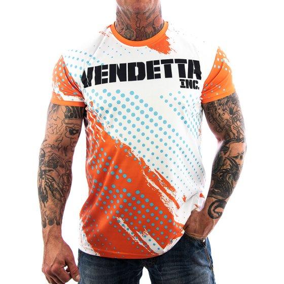 Vendetta Inc. Mesh Allover Shirt white 1077 M