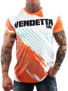 Vendetta Inc.Mesh Allover Shirt weiß 1077 L