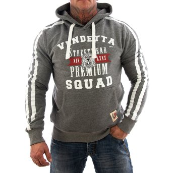 Vendetta Inc. Sweatshirt Squat VD-3005 grau S