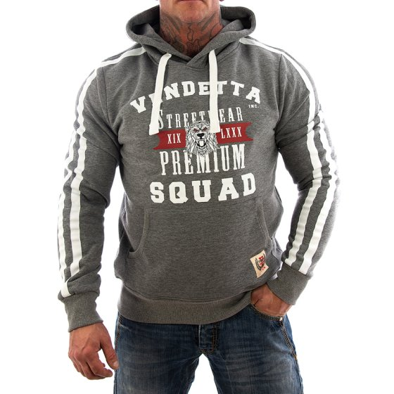 Vendetta Inc. Sweatshirt Squat VD-3005 grau L