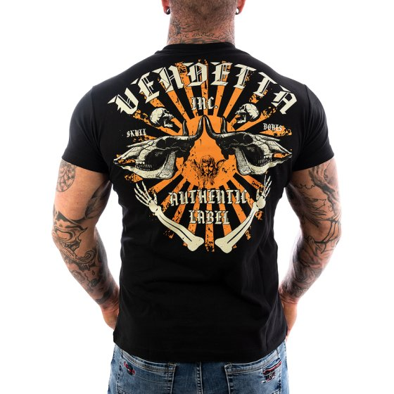 Vendetta Inc. Shirt Skull Bones black VD-1089
