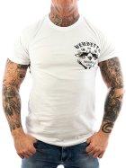 Vendetta Inc. Shirt Skull Bones white VD-1089 M