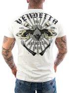 Vendetta Inc. Shirt Skull Bones white VD-1089 4XL
