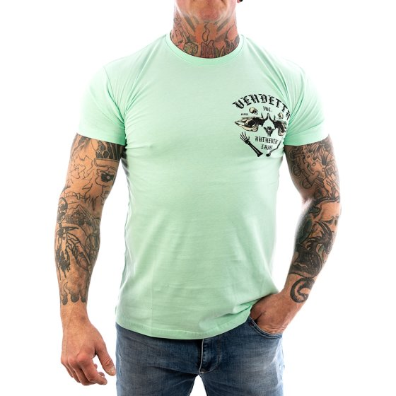 Vendetta Inc. Shirt Skull Bones green water VD-1089 L