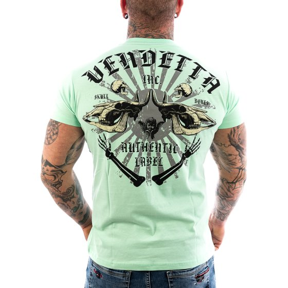 Vendetta Inc. Shirt Skull Bones green water VD-1089 3XL