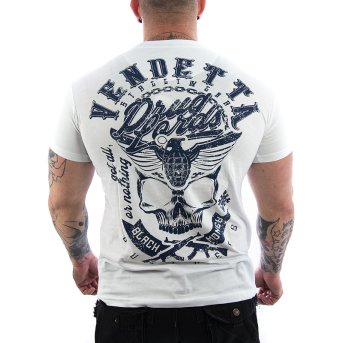 Vendetta Inc. Shirt Black Money weiß VD-1095 S