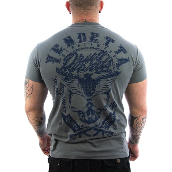 Vendetta Inc. Shirt Black Money grey
