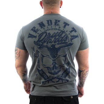 Vendetta Inc. shirt Black Money grey VD-1095 S