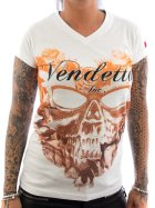 Vendetta Inc. Shirt Flower Skull weiß XL