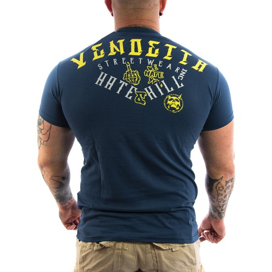 Vendetta Inc. Hate & Kill Shirt dunkelblau XXL