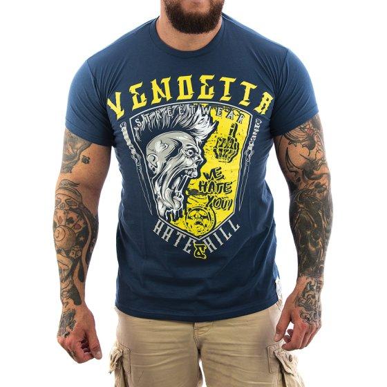 Vendetta Inc. Hate & Kill Shirt dark blue 3XL