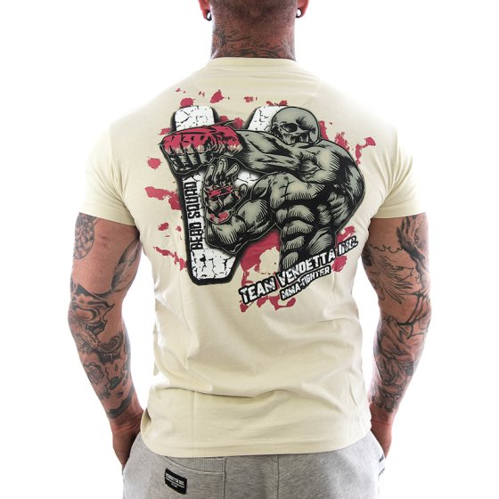 Vendetta Inc. Shirt Team MMA bone white