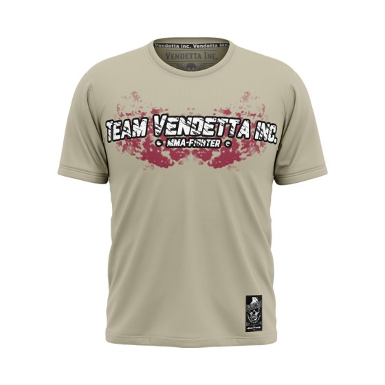 Vendetta Inc. Shirt Team MMA 1115 bone white 5XL