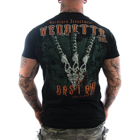Vendetta Inc. Shirt Skull Knives black