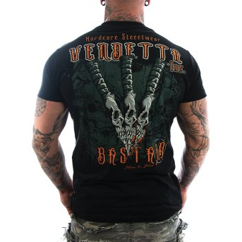 Vendetta Inc. Shirt Skull Knives black M