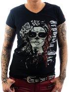 Vendetta Inc. shirt La Catrina black XS
