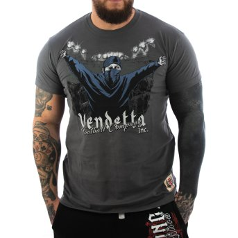 Vendetta Inc. Shirt Football grey M