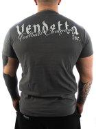 Vendetta Inc. Shirt Football grey 3XL