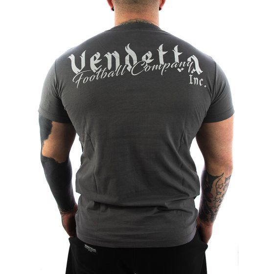 Vendetta Inc. Shirt Football grey 5XL