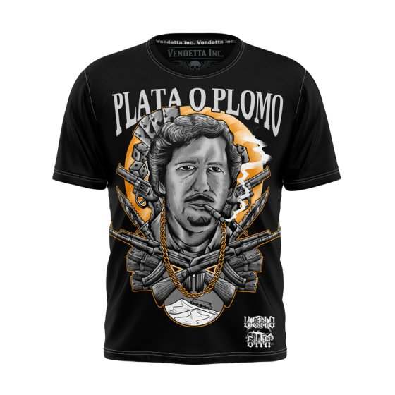 Vendetta Inc. Shirt Plata o Plomo 5XL