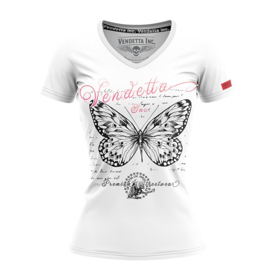 Vendetta Inc. shirt Butterfly white