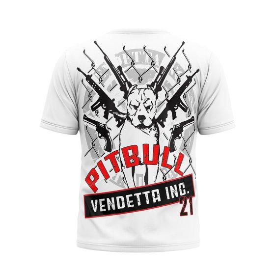 Vendetta Inc. Shirt Pitbull weiß