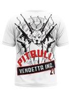 Vendetta Inc. Men Shirt Pitbull white 3XL
